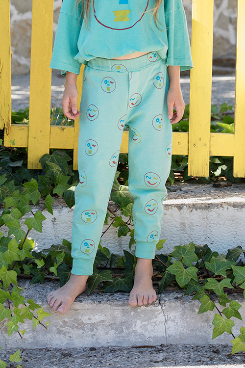 SMILEY SWEATPANTS_POOL GREEN