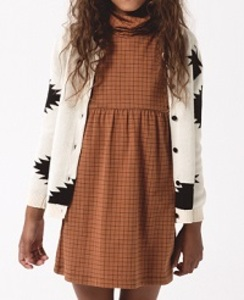 AW17-006 grid ls turtle neck dress [2]