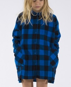 [AW17-137]check woven shirt-dress