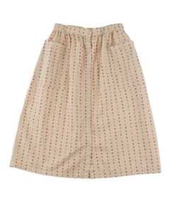 [AW17-163]alphabet soup button-down woven skirt