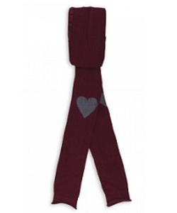 LEGGINGS WITH HEARTS_BORDEAUX CLUNY [17FW-1]