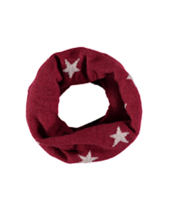 cashmere mini star snood_berry