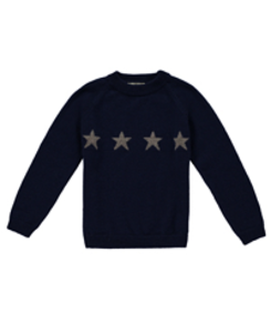 bailey cashmere star jumper_navy