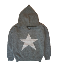 cashmere toby hooded jumper_smog
