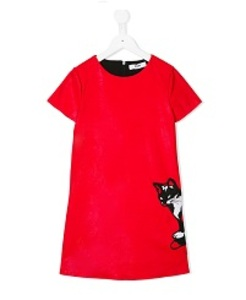 MSGM VESTITO ECO PELLE DRESS GIRl_011117.040