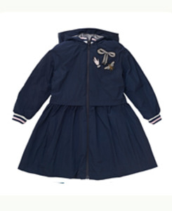 PIN SHARP _COAT/ NAVY