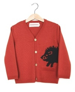 KNITTED CARDIGAN WILD BOAR