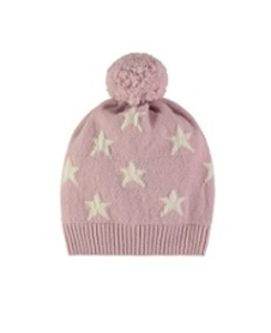 cashmere mini star hat hat_dusty rose
