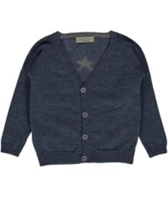 GEORGE CASHMERE CARDIGAN_SOFT DENIM