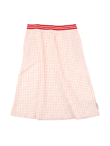 grid mid-length skirt