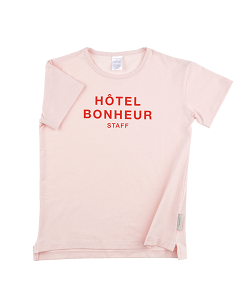 'big hôtel bonheur staff' SS relaxed graphic tee