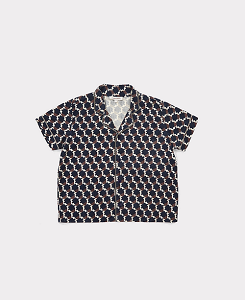 LAGO SHIRT-BLUE/CHOCOLATE