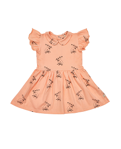 PEACH BUNNY DRESS