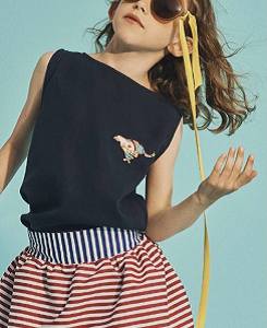 15-SKIRT DOUBLE-BLUE&RED SAILOR