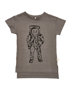 CHARCOAL SPACE CAT T-SHIRT
