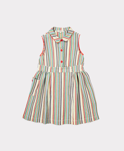 BALBINA DRESS-MULTI STRIPE