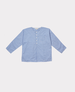 BILLY SHIRT-GINGHAM BLUE