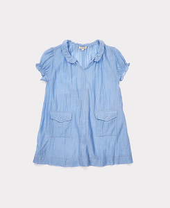 ROCA DRESS-AZURE BLUE