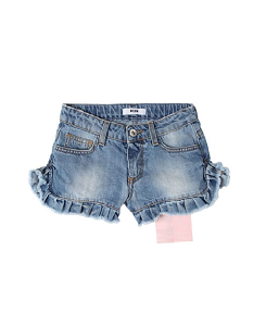 SHORT JEANS GIRL-DENIM BLU