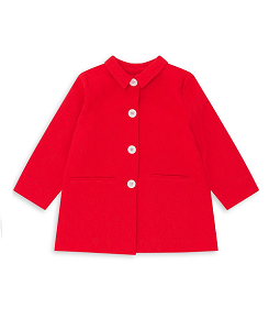 GIRL PRINTED COAT_ROUGE FESSEE