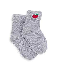 GIRL SOCKS APPLE_CHINE GRIS