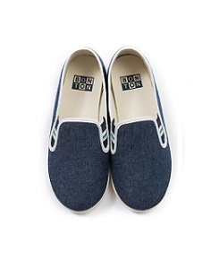 BOY PLAINED SLIPPERS(3차)-BLEU