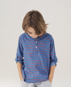 Kids shirt Unisex_Blue