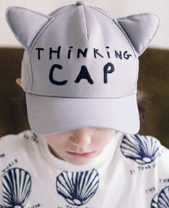Cap with Cat Ears-Grey