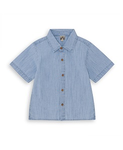 BOY CHAMBRAY SHORT SLEEVE SHIRT