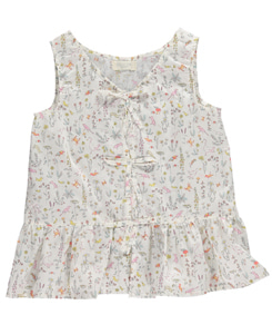 MAISIE VEST WITH BOWS ON FRONT-THEO PALE PINK