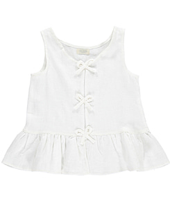 MAISIE VEST WITH BOWS ON FRONT-CREAM