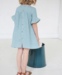 TILLY DRESS -SAGE