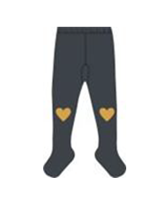 BABY TIGHTS HEART_CHARCOAL