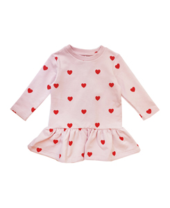 Sweater Dress _ RED HEARTS