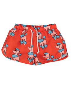 SWIM TRUNKS_RED POODLE