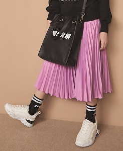 MSGM CREPE DE CHINE SKIRT GIRL_PINK