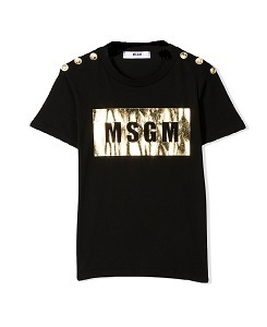 MSGM T-SHIRT JERSEY GIRL_BLACK