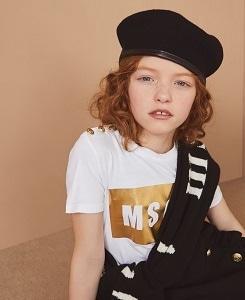 MSGM T-SHIRT JERSEY GIRL_WHITE