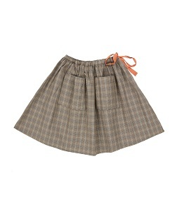 NORTON SKIRT_CHECK GREY